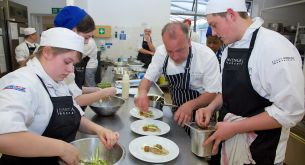 Professional chefs join with students to cook up charity gala dinner